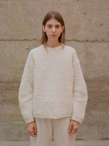 Lauren Manoogian Astrakhan Pullover, Raw White