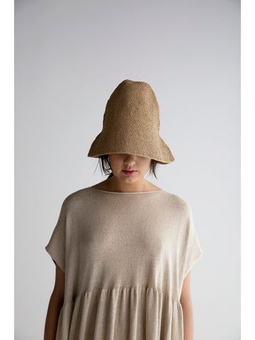 Lauren Manoogian Crochet Bell Hat, Nude