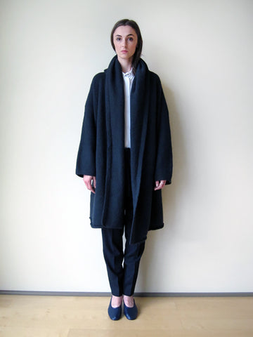 Lauren Manoogian Capote Coat, Black Melange