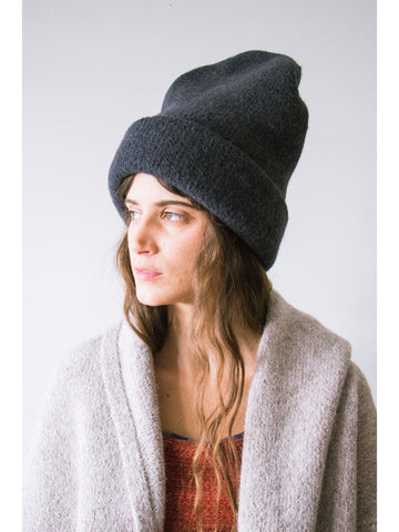 Lauren Manoogian Carpenter Hat, Black Melange