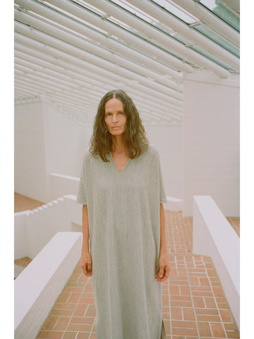 Lauren Manoogian Horizontal Caftan, Light Grey