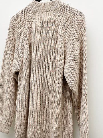 Lauren Manoogian Shaker Cardigan, Beige Tweed