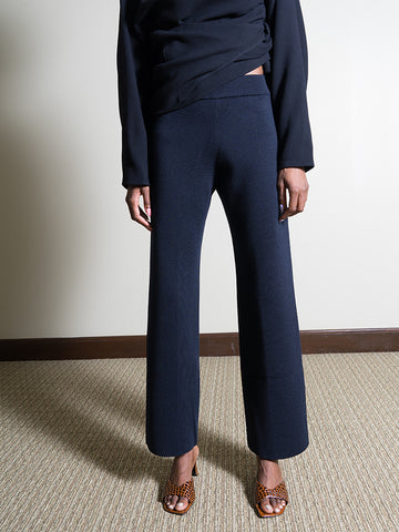 Le 17 Septembre Straight Knit Pant, Navy