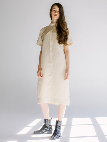Linder Reine Midi Dress, Off-White