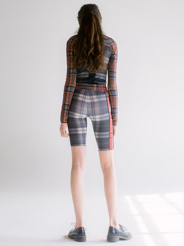 Linder Sabrina Flex Short, Black Plaid