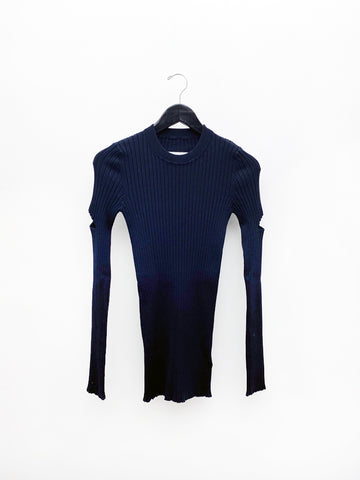Maison Margiela MM6 Ribbed Cut Out Sweater