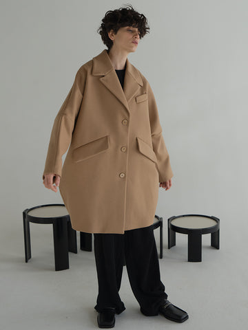 Maison Margiela MM6 Oversized Cocoon Coat, Camel