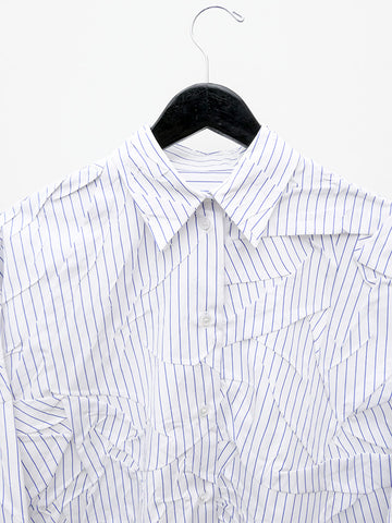 Maison Margiela MM6 Crushed Striped Button Down