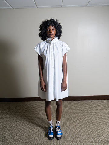 Maison Margiela MM6 Oversized Ruffle Neck Dress
