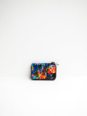 Macromauro Paint Wallet, Black Multi, Small