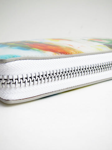 Macromauro Paint Wallet, White Multi, Large