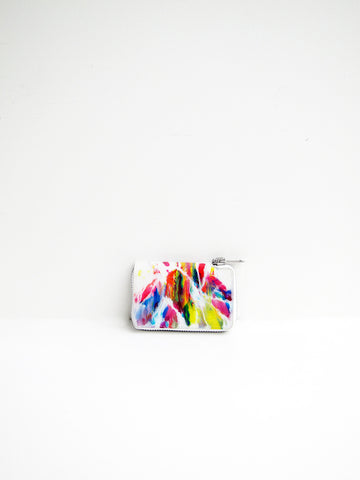 Macromauro Paint Wallet, White Multi, Small