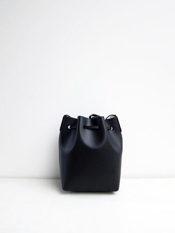 Mansur Gavriel Mini Bucket Bag, Black/Flamma - Stand Up Comedy