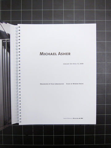 Michael Asher January 26-April 12, 2008