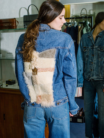 Milena Silvano Jean Jacket, Medium Denim