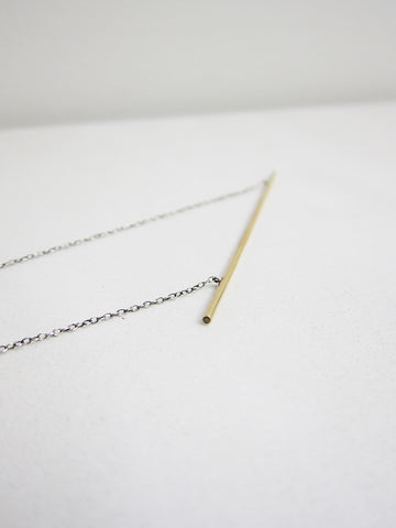 Natasha Wheat Line Series #1 Necklace, Champagne Diamonds