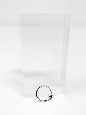 Paso Inverted Stone Ring