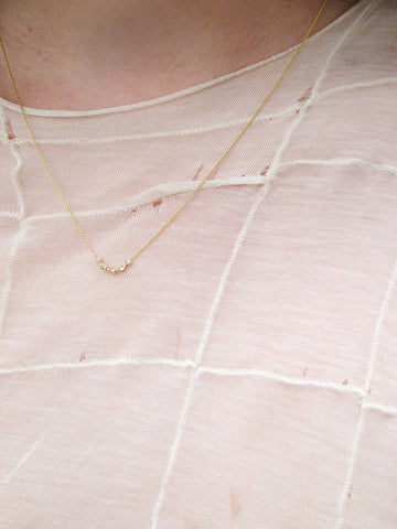 Cas Necklace, White Diamond