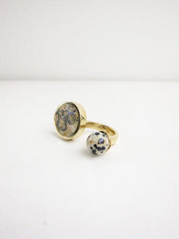 Jaspe Double Ring, Ocean/Dalmation