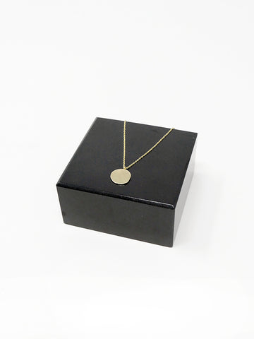 Quarry Penny 1 Necklace, Small, 14k Gold
