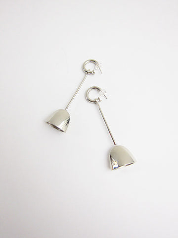 Riboud Earrings, White Bronze