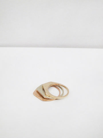 Cutout Ring #5, White Bronze