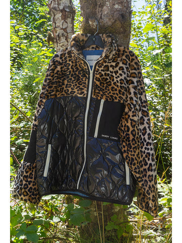 Sandy Liang Dean Fleece, Leopard