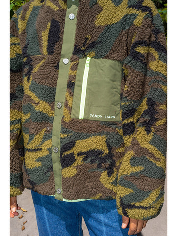 Sandy Liang Rory Fleece, Camo