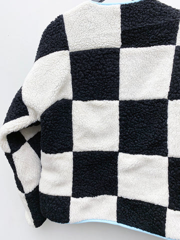 Sandy Liang Pawn Fleece, Checkerboard