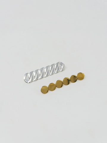Saskia Diez Grand Hair Clip, Silver