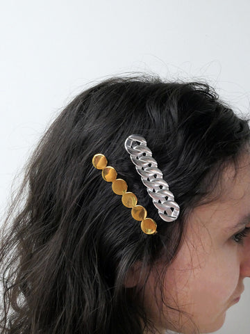 Saskia Diez Paillettes Hair Clip, Gold