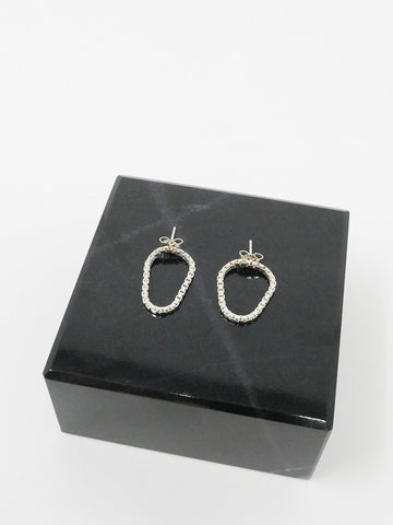 Saskia Diez Loop Earrings, Silver