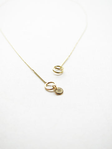 Saskia Diez Ultrafine Thread Necklace, 18k Gold
