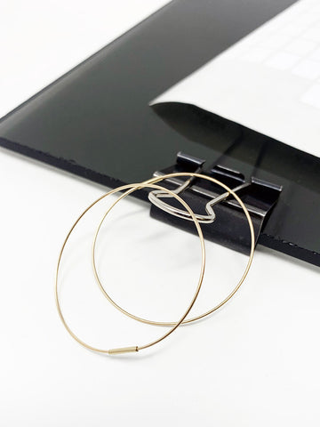 Saskia Diez Wire Earrings No. 2, 18k Gold Hoop