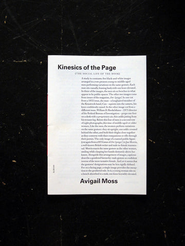 The Social Life of the Book #4: Kinesics of the Page - Stand Up Comedy