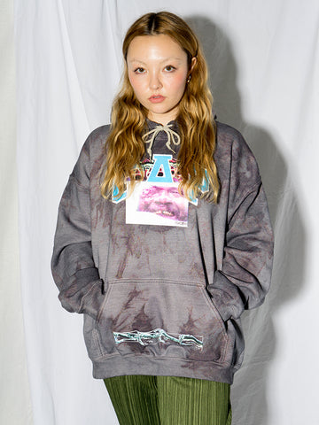 Stacy House G@P Bootleg Hoodie, Dark Grey Tie Dye