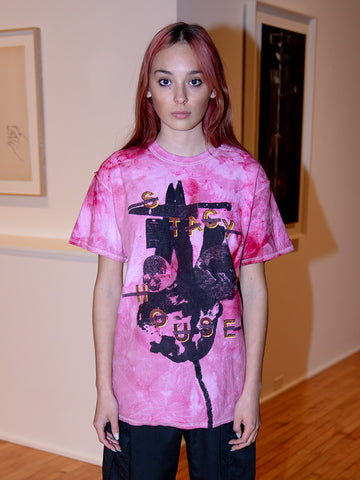 Stacy House House T-Shirt S/S, Pink Tie Dye