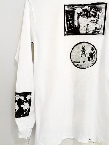 Stacy House Mickey Condom Patch L/S Shirt, White