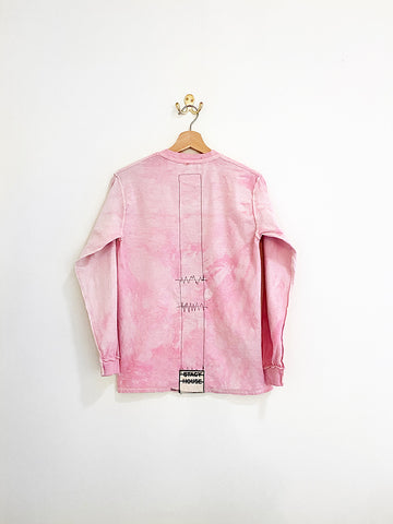 Stacy House Mickey Condom L/S Shirt, Pink Tie Dye