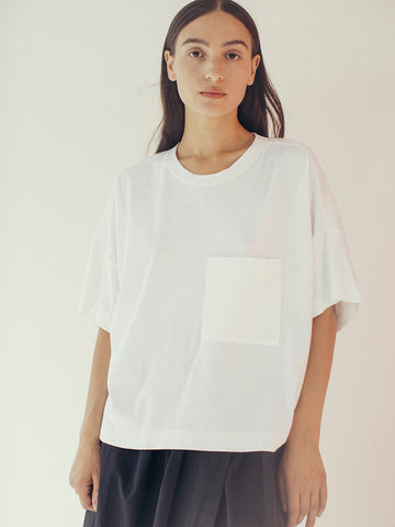 Suzanne Rae Boxy Pocket T-Shirt, White