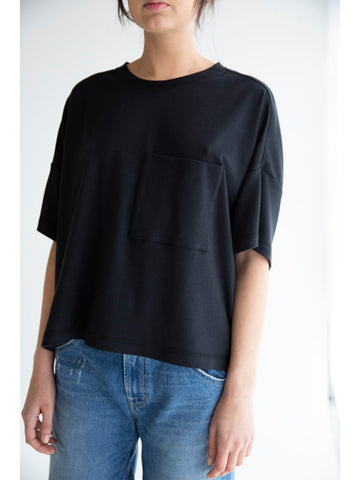 Suzanne Rae One Pocket T-Shirt, Black