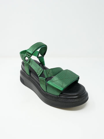 Suzanne Rae Velcro Sandal, Green