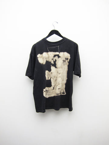 Waggy Tee Single Letter E Black Tee
