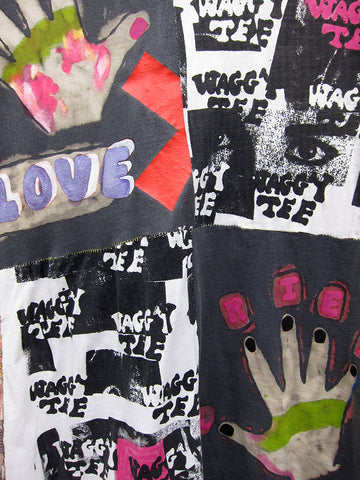 Waggy Tee Patchwork Handprint 2