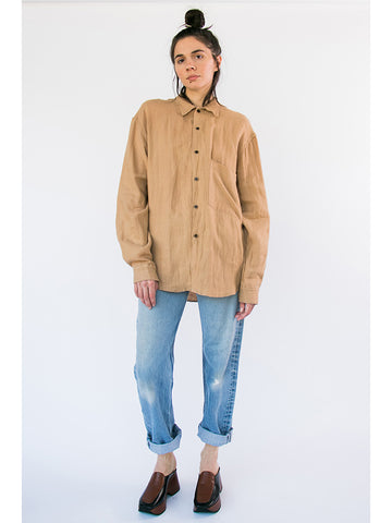 Zed Big Pocket Button Up, Sand