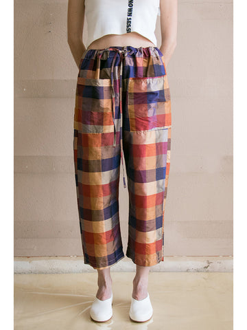Zed Catch All Trouser, Silk Plaid