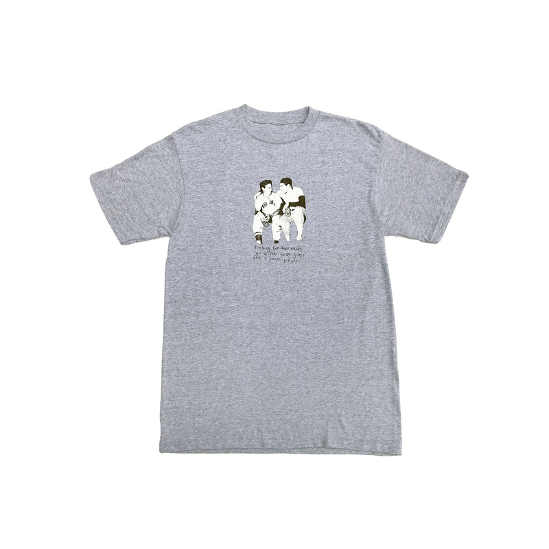 Pitching for Beer Tee Grey Marl