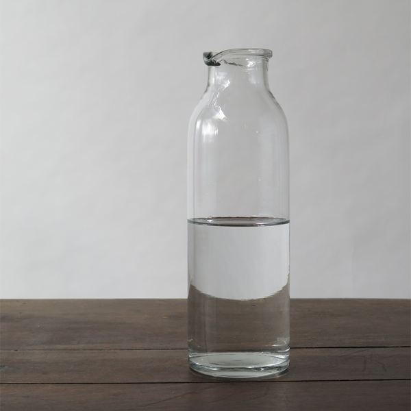 simple glass carafe