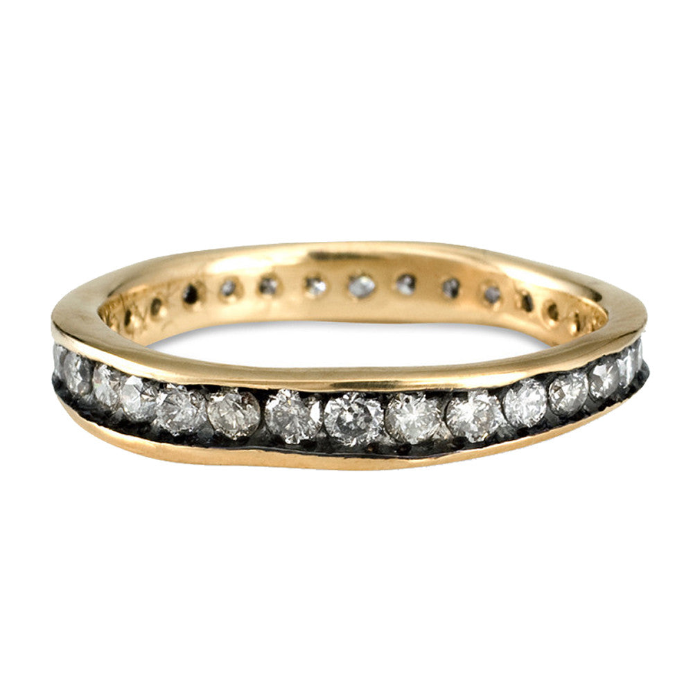 18k gold + diamond eternity band
