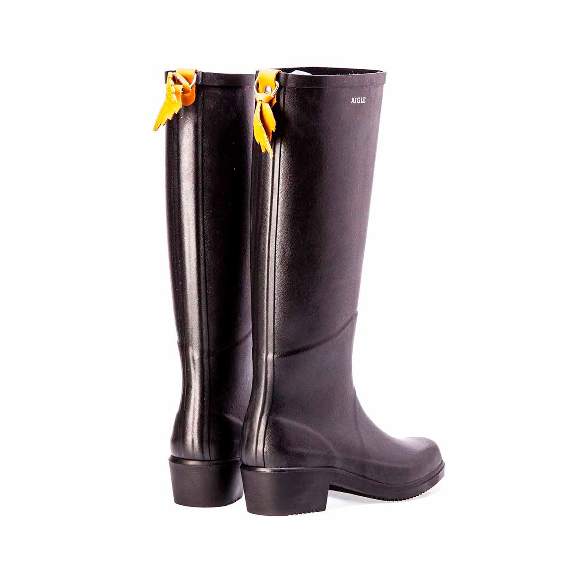 aigle miss juliette a rain boot in black